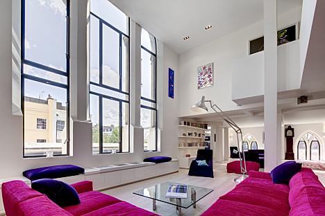 loft lakás modern design