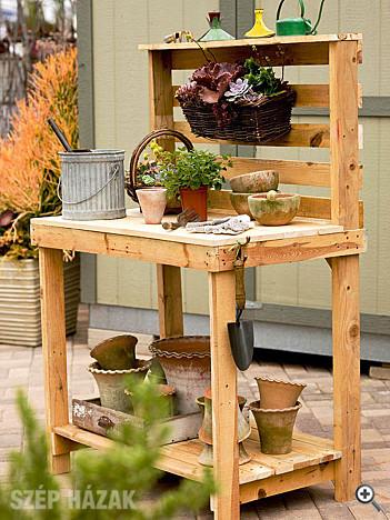 Raklap bútor a kertben - Szép Házak Online